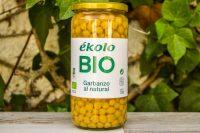 """Garbanzos cocidos ecológicos """"Ekolo"""" 720gr"""