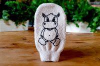 Guante para lavado de niños de algodón ecológico